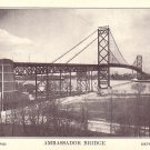 Ambassador Bridge Connecting Canada and U.S. in Detroit Michigan MI Vintage Postcard - 3939