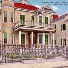 Iron Corn Fence in New Orleans Louisiana LA, Linen Postcard - 3967