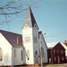 First Baptist Church at Pocomoke City Maryland MD, Mid Century Chrome Postcard - 5265