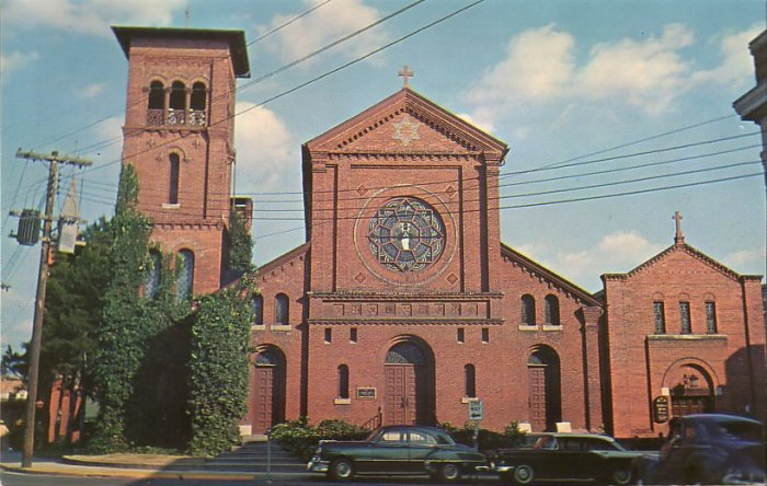 St. Peter's Episcopal Church in Salisbury Maryland MD, Mid Century Chrome Postcard - 5266