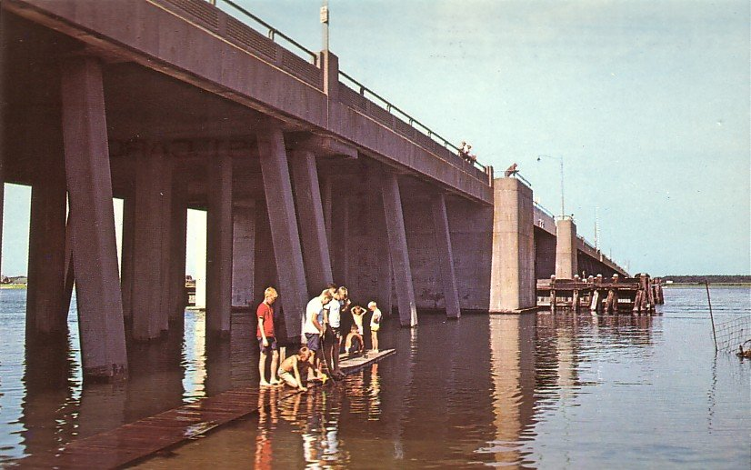 U.S. Highway 50 Bridge at Ocean City Maryland MD Chrome Postcard - 5268