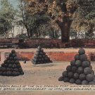 Cannon Balls at Old Spanish Fort, New Orleans Louisiana LA Vintage Postcard - 5280