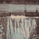 Hemet Dam in California CA, Vintage Hand Colored Postcard - 5285