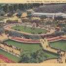 Santa Anita Park Showing the Paddock in Arcadia California CA 1939 Linen Postcard - 5288