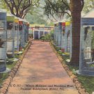 Cages at Tropical Hobbyland in Miami Florida FL, 1946 Curt Teich Postcard - 5301
