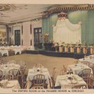 The Empire Room at Palmer House in Chicago Illinois IL, 1947 Linen Postcard - 5306