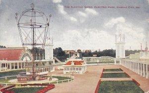 Electric Swing at Electric Park in Kansas City Missouri MO, 1908 Vintage Postcard - 5313