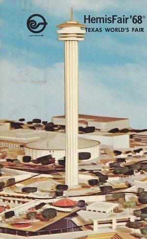 Tower of the Americas, HemisFair 68 in San Antonio Texas TX, Chrome Postcard - 5320