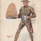Artist Signed by Wall World War 1 Comic 1918 Vintage Postcard - 5321