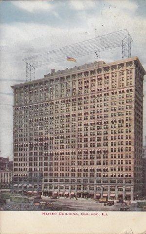 Heisen Building Chicago Illinois IL 1912 Vintage Postcard - 5330