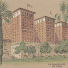 The Biltmore Hotel in Los Angeles California, Lithograph Postcard - 5345