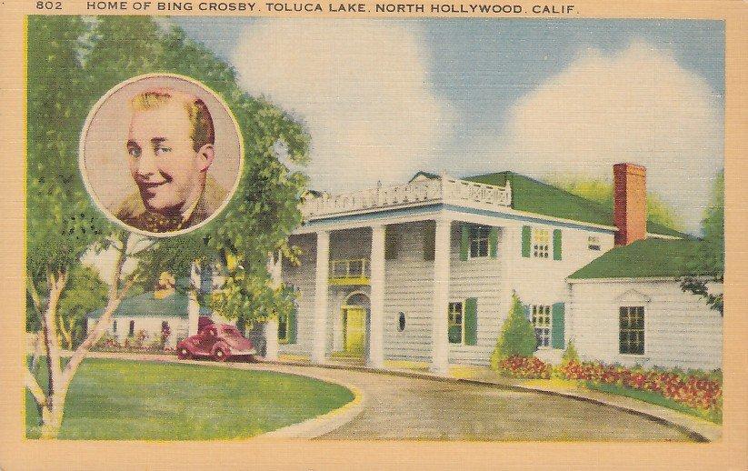 House of Bing Crosby Hollywood California CA, Linen Postcard - 5353