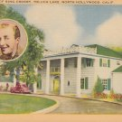 House of Bing Crosby Hollywood California CA, Linen Postcard - 5353