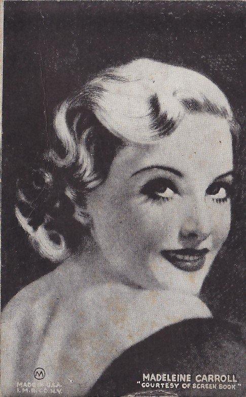 Madeleine Carroll Actress, Vintage Mutoscope Postcard - 5354