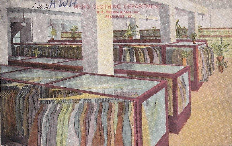 R.K. McClure & Sons Department Store Frankfort Kentucky KY, 1911 Postcard - 5358