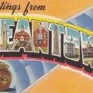 Greetings from Beantown, Boston Massachusetts MA Large Letter Postcard - 5369
