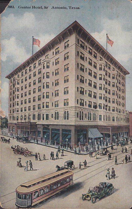 Gunter Hotel in San Antonio Texas TX 1917 Vintage Postcard - 5384