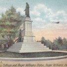 Roger Williams Statue Providence Rhode Island RI 1913 Vintage Postcard - 4966