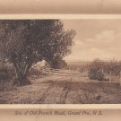 Site of Old French Road Grand-Pré, Nova Scotia Canada Vintage Postcard - 4121
