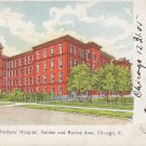 Alexian Brothers Hospital, Chicago Illinois IL 1906 Vintage Postcard - 5412