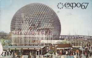 Pavilion of the US Expo 67 Montreal Canada Exposition Postcard - 5419