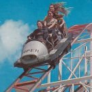 Jet Star Roller Coaster at Santa Cruz California CA, 1974 Chrome Postcard - 5386