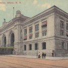 Railroad Station in Albany New York NY, 1912 Vintage Postcard - 5401