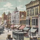 Grove Ave. in Elgin Illinois IL 1908 Vintage Postcard - 5454