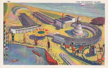 Enchanted Island Chicago World's Fair 1933 Linen Postcard - 5456