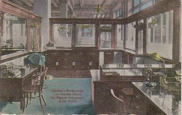 Cashier's Rendezvous Los Angeles Times California CA 1913 Vintage Postcard - 5457