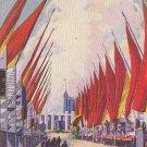 Avenue of Flags Chicago World's Fair 1933 Postcard - 5460