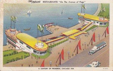 Thompson's Restaurants Chicago World's Fair 1933 Postcard - 5462