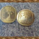 COIN JEWELRY~ISRAELI PALM TREE CUFFLIKES OR EARRING