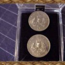 P's Coin Jewelry~Scottish Thistle Cufflink or earrings~