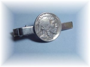 Phyl&#039;s coin jewelry~US Indian Head Nickel tie bar clasp