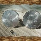 P'C COIN JEWELRY~NEW US KEELBOAT NICKEL CUFFLINKS