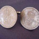 COIN JEWELRY~~CUFFLINKS~ SCOTTISH ARMS COINS