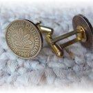~New Cufflinks  German Germany 10 pfennig coins~ GOLD