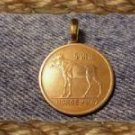 P'S COIN JEWELRY~MOOSE PENDANT NECKLACE NORWAY 5 ORE