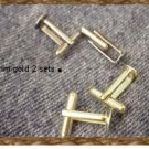 Phyl's  findings~Gold Blank cufflinks~make your own