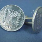 P'S COIN JEWELRY~ISRAELI MENORAH CUFFLINKS~silver