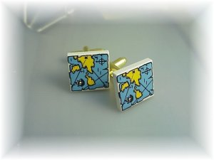 Lego cufflinks~ Treasure Maps~cool retro