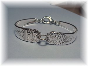 MARGATE PATTERN~SILVER SPOON BRACELET~HANDCRAFTED~Retro