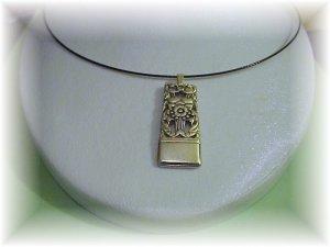"Coronation spoon pendant & 22"" sterling chain free ship"