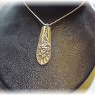 "Jubilee spoon pendant & 22"" sterling chain"