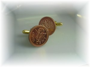 New Coin  Cufflinks King Neptune  Barbados trident~cuffs for the sea lover