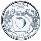 Cufflinks  GEORGIA  State Quarter 25c USA Coin - New Cuffl  FREE SHIPPING