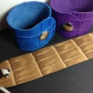 Embossed Crocodile leather women's bracelet mutlple colors available