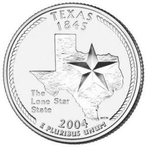 Cufflinks TEXAS State Quarter 25c USA Coin - New Cuffl  FREE SHIPPING