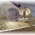 COIN CUFFLINKS ~POLISH EAGLE  ZLOTYCH Free shipping and gift boxed